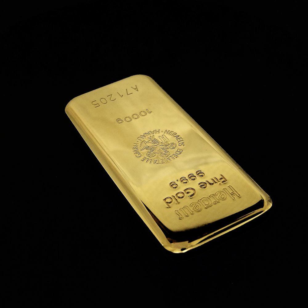 1 kg investeringsguldbarre køb den direkte til børskurs uden moms